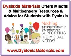 Come read American Dyslexia Associations blog about how the site Dyslexia Materials offers mindful and multisensory resources and advice for students with dyslexia and dyscalculia.
