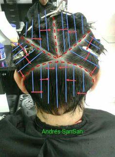 Hair Cutting Techniques, Hair Color Techniques, Hairstyles Haircuts, Haircuts For Men, Hair Cut Guide, Hair Color Placement, Short Hair Cuts, Short Hair Styles, Haircut Tip