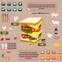Alimentos e bebidas infográfico livre
