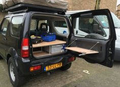 einfacher umbau zum jimny camper autos und motorr der. Black Bedroom Furniture Sets. Home Design Ideas