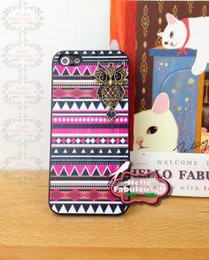 Owl Phone Case Geometric iPhone 5 Case Plastic
