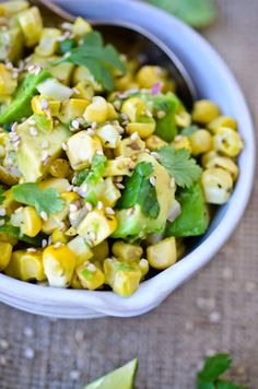 Love this #spring recipe for Asian corn and avocado salsa!