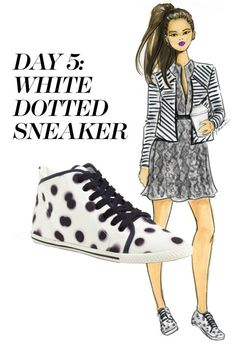 Play around with all the prints. Sport a striped jacket over a snakeskin dress—with dotted sneakers on your feet. Shop the sneaker trend at Nordstrom.com