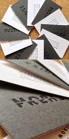 Simple Letterpress Card Design
