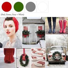 Home for the Holidays - http://www.theperfectpalette.com/2011/12/home-for-holidays-red-green-gray-white.html