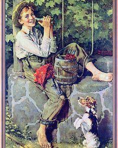 The Old Oaken Bucket by Norman Rockwell (1932)