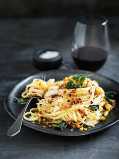 Porcini Crumb Pasta With Oregano And Stracchino Cheese | Donna Hay