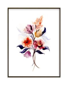 """""""Grecian Floral"""" - Art Print by Olivia Kanaley in beautiful frame options and a variety of sizes."""