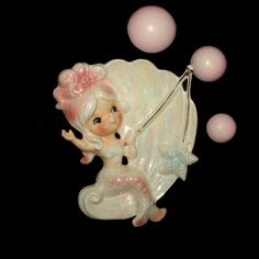 Vintage Lefton Mermaid Figurine or Wall Plaque Fishing
