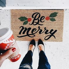 Looking for for inspiration for christmas aesthetic?Check out the post right here for perfect Christmas inspiration.May the season bring you joy. Christmas Style, Christmas Time Is Here, Merry Little Christmas, Noel Christmas, Winter Christmas, Winter Holidays, Christmas Decor, Christmas Doormat, Modern Christmas