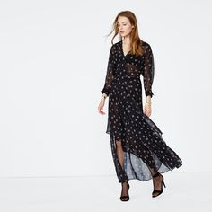 Maje, official US website. A ready-to-wear brand for women. Fall Collection, Robes Midi, Maje, Fall Dresses, Dress Skirt, Ready To Wear, Calvin Klein, Floral, Women