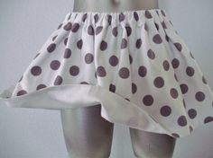 White & Gray Polka Dot Toddler Twirl Skirt by Perfect Little White & Gray Polka Dot Twirly Skirt for Your Little Princess, 100% Cotton Twill Fully Lined, Non-roll Elastic Waistband, Size 2T - 3T.  Every Little Girl Needs a Twirly Skirt and Polka Dots Make it Even Better!!!  $22. BabySuzannaJohanna