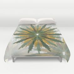 Leafy Wreaths Duvet Cover by weivy Pattern Flower, Face Towel, Presents For Friends, Good Cause, Hand Towels, Duvet Covers, Tapestry, Wreaths, Throw Pillows