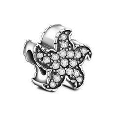Calvas New Simple 925 Sterling Silver Shimmering Pumpkin Shape Charms Bead Fit Bracelets Jewelry for Women Gift