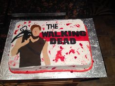 I want this cake for my birthday next month (but with a good picture of Daryl on it)