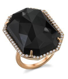 Irene Neuwirth Gold Black Onyx and Pavé Diamond Ring