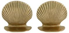 Brass  Shell Bookends | For Shore! | One Kings Lane