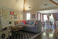 eclectic living room by Sarah Greenman   fabuloushomeblog.comfabuloushomeblog.com