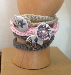 crochet bracelet with button - Pienuts