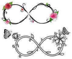 11 Really Awesome Infinity Symbol Tattoo Designs Watercolor Flowers with Infinity Symbols Tattoos Ewigkeits Tattoo, Unendlichkeitssymbol Tattoos, Flor Tattoo, Neue Tattoos, Body Art Tattoos, Arrow Tattoos, Tiny Tattoo, Tattoo Flash, Small Tattoos
