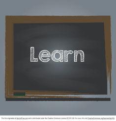 Learn Chalkboard Vector