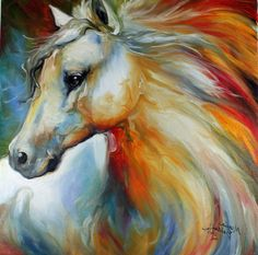 Horse Oil Painting  #21540531