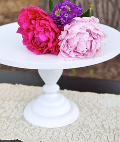 14 Inch Cake Stand Vintage Inspired Cake by RitaMarieWeddings, $72.00