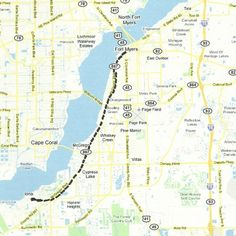Florida Backroads Travel map of route along US41 Tamiami Trail to