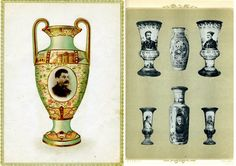 Rare trade catalog of vases with portraits of Stalin and other prominent Communist leaders, 1940.