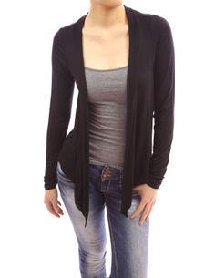 PattyBoutik Trendy Drape Collar Long Sleeve Asym Hem Cardigan Top (Black L) PattyBoutik http://www.amazon.com/dp/B0092M47AQ/ref=cm_sw_r_pi_dp_k46Jtb0PVVSA11GJ