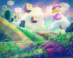 Princess Peach Landscape by ~SaladBowl on deviantART