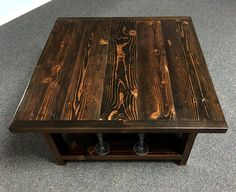 Square Coffee Table with Industrial Accents by ReclaimedWoodGoods