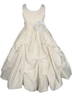 AMJ Dresses Inc Heavenly Ivory Flower Girl Wedding « Dress Adds Everyday