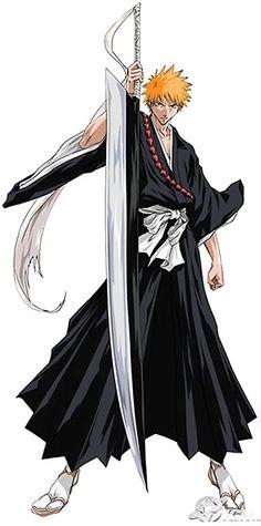 Ichigo Kurosaki from the Bleach manga holding Soul Reaper