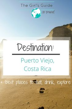 A Destination guide of the Caribbean gem of Costa Rica - Puerto Viejo. Where to eat, drink, and explore in the beautiful town of Puerto Viejo. Check out the post - http://girlsguidetotravel.com/destination-guide/puerto-viejo-costa-rica/