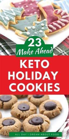 Keto Holiday, Holiday Baking, Christmas Baking, Christmas Recipes, Healthy Holiday Recipes, Healthy Cookie Recipes, Christmas Sweets, Christmas Parties, Holiday Foods
