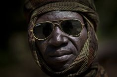 A Chadian soldier fighting in support of Central African Republic president