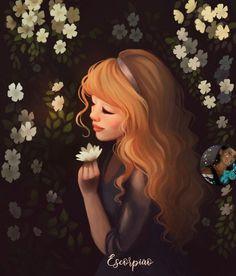 Image may contain: plant Diana, Girl Cartoon, Cartoon Art, Frog Illustration, Estilo Disney, Girly Drawings, Digital Art Girl, Art For Art Sake, Beautiful Drawings