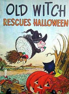"Children's Records & More: Wende and Harry Devlin ""Old Witch Rescues Halloween"" (Reader's Digest Services, 090, 1974)"