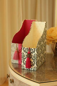 Pequeno pano e cartonagem de Fabriko: caixa de tecido