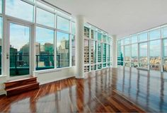 Views from Oprah's New York penthouse. She's putting this baby on the market. I so badly want to place a bid.