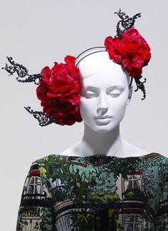 Plaza Athenee, dress by Basso & Brooke, hat by Stephen Jones