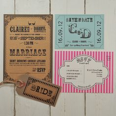 Carnival fun is a quirky, fun and bright wedding stationery collection perfect for a vintage carnival themed wedding £1.50