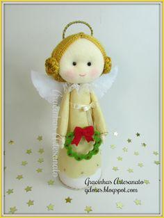 Xmas felt Angel Handmade by Gracinhas Artesanato