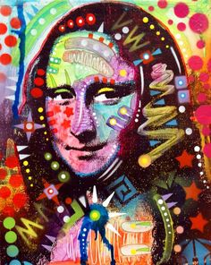Rainbow Mona Lisa 1 - by Dean Russo