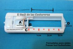 partes del prensatelas para ojales Lidl, Scrapbook Albums, Buttonholes, Diy And Crafts, Patches, Buttons, Sewing, Knitting, Cilantro