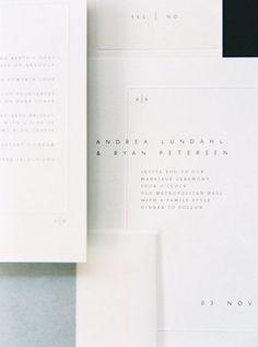 Love the simplicity of this elegant invitation suite.