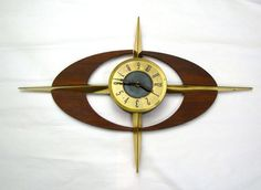Mid Century Wall Clock 30 Mad Men Starburst by ChaseAndScoutDesign