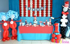 """Photo 1 of 29: Dr. Seuss / Birthday """"{Cat in the Hat Birthday}"""" 