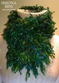 Sciarpa green fatta a telaio